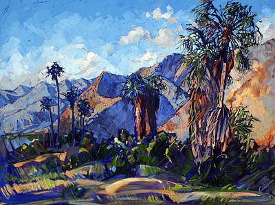 Palm Shadows Print by Erin Hanson