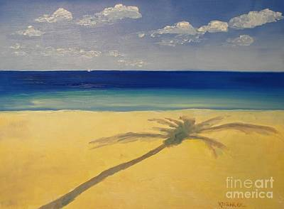 Painting - Palm Shadows by Keith Wilkie