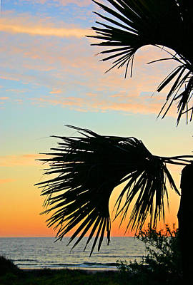 Palm Silhouette Art Print by Kristin Elmquist