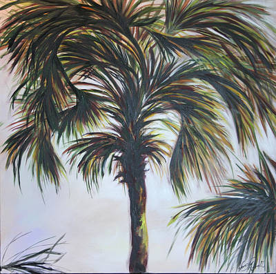 Palm Silhouette Art Print by Michele Hollister - for Nancy Asbell
