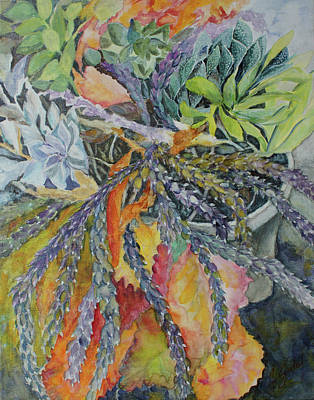 Painting - Palm Springs Cacti Garden by Joanne Smoley