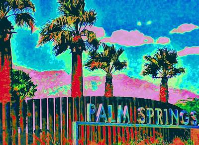 Palm Springs Gateway Three Art Print