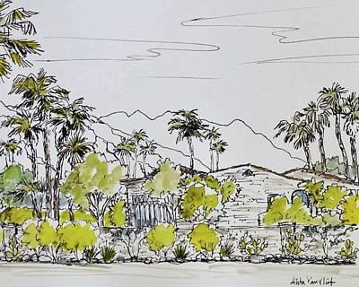 Palm Springs Historic Adobe Original by Alita VanVliet