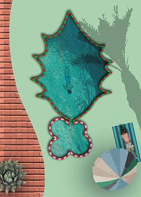 Digital Art - Palm Springs Hollyday Pool by Stan  Magnan