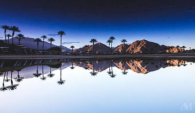 Palm Trees Photograph - Palm Springs Reflection by Andrew Mason