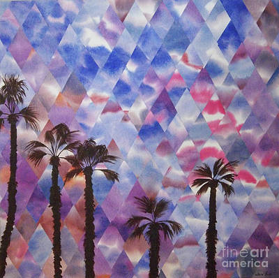 Painting - Palm Springs Sunset by Jeni Bate