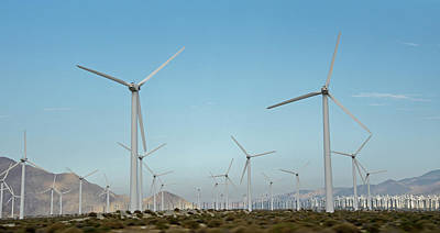 Photograph - Palm Springs Windfarm by Ross G Strachan