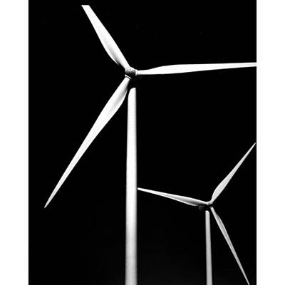 Desert Photograph - Palm Springs Windmills. #ilford by Alex Snay