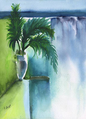 Painting - Palm Still Life Abstract by Frank Bright