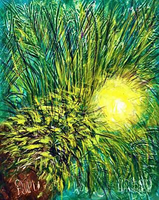 Palm Sunburst  Art Print