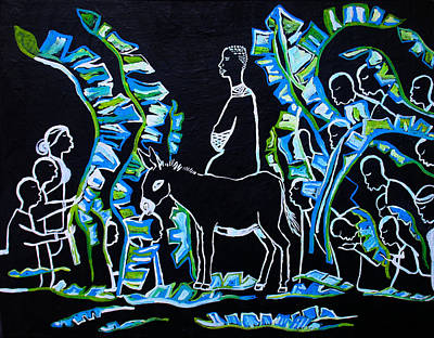 Palm Sunday Painting - Palm Sunday by Gloria Ssali