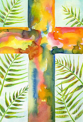 Frond Painting - Palm Sunday by Ruth Borges