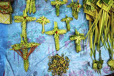 Semana Santa Wall Art - Photograph - Palm Sunday Street Market Stall by James Brunker