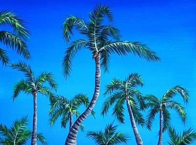 Heat Painting - Palm Tops by Anastasiya Malakhova