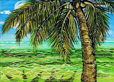 Palm Tree Art Print by Debbie Chamberlin