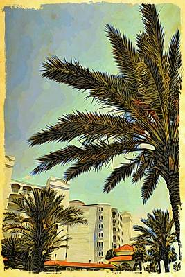 Photograph - Palm Tree Glimpse by Alice Gipson