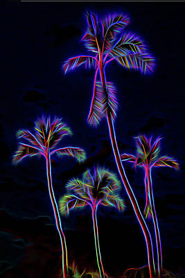Palm Tree Graphic Art Print by Kelley King