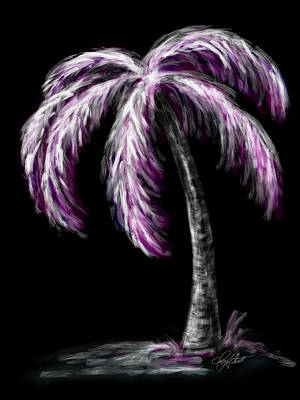 Digital Art - Palm Tree In Pink by Dani Abbott