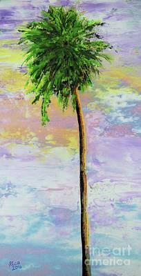 Palm Trees Mixed Media Mixed Media - Palm Tree by Nica Art Studio