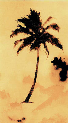 Tree Art Mixed Media - Palm Tree Number 5 by Michael Vigliotti