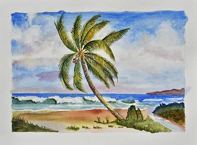 Palm Tree Ocean Scene Original