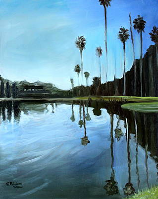 Beach Painting - Palm Tree Reflections by Elizabeth Robinette Tyndall