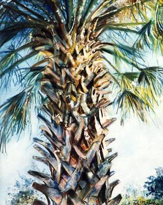 Pastel - Palm Tree by Robin Maria Pedrero