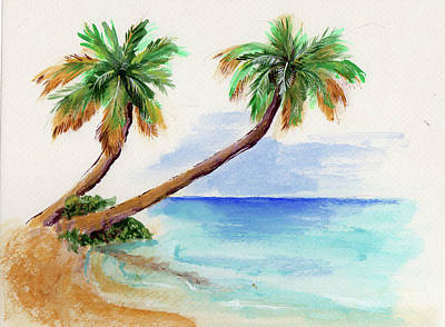Painting - Palm Tree Sketch by Thomas Lupari