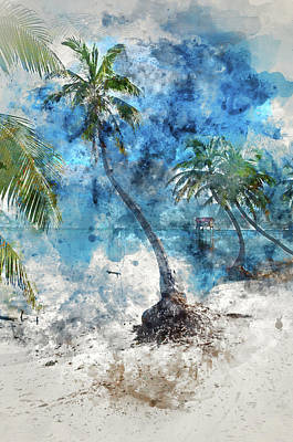 Photograph - Palm Tree With Swing Over The Ocean by Brandon Bourdages
