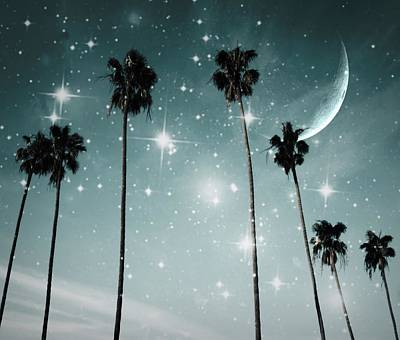 Photograph - Palm Trees .... Starry Night by Marianna Mills