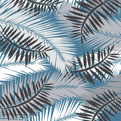 Tropical Digital Art - Palm Trees 10 by Mark Ashkenazi