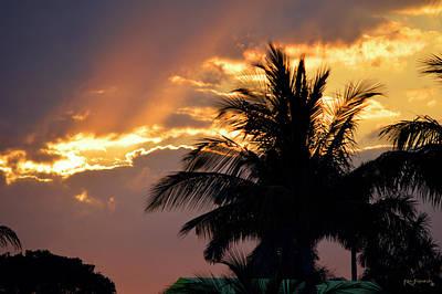 Keys Photograph - Palm Trees At Sunset by Ken Figurski