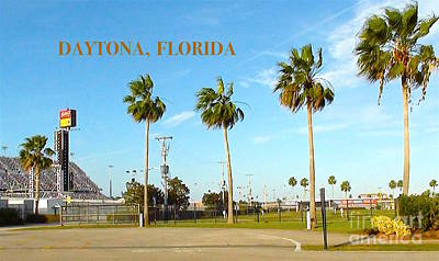 Digital Art - Palm Trees Of Daytona Florida by Karen Francis