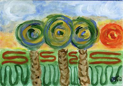 Drawing - Palm Trees On My Mind by Stephanie Agliano