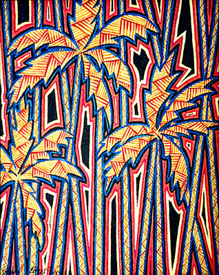 Painting - Palm Trees by Sharon Ebert