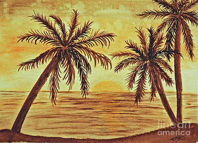 Painting - Palm Trees by Terri Mills
