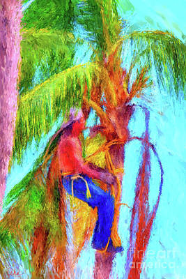 Digital Art - Palm Trimmer by Gerhardt Isringhaus