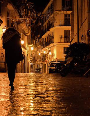Photograph - Palma De Mallorca At Night - 2 by Andrea Mazzocchetti