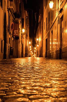 Photograph - Palma De Mallorca At Night by Andrea Mazzocchetti