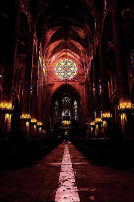Painting - Palma De Mallorca Cathedral - Colours Of Faith 2 by Andrea Mazzocchetti