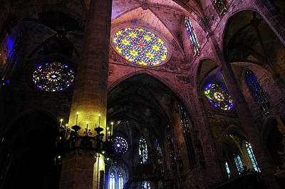 Painting - Palma De Mallorca Cathedral - Colours Of Faith 3 by Andrea Mazzocchetti