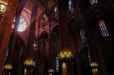 Painting - Palma De Mallorca Cathedral - Colours Of Faith 4 by Andrea Mazzocchetti