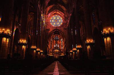 Painting - Palma De Mallorca Cathedral - Colours Of Faith by Andrea Mazzocchetti