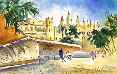 Painting - Palma De Mallorca Cathedral by Miki De Goodaboom