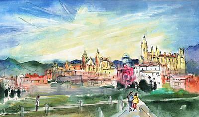 Painting - Palma De Mallorca Panoramic 02 by Miki De Goodaboom