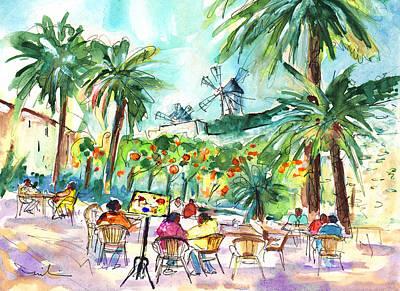 Painting - Palma De Mallorca Windmills 01 by Miki De Goodaboom