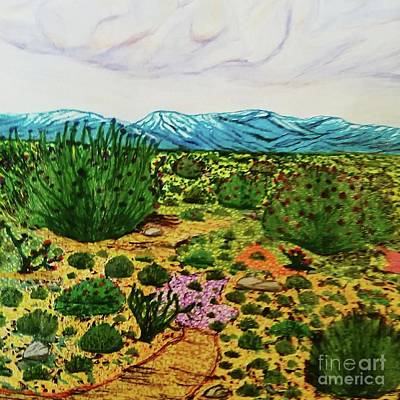 Early Spring Drawing - Palmdale Blvd Wild Splendor by Ishy Christine