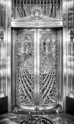 Photograph - Palmer Hotels Peacock Door by Howard Salmon