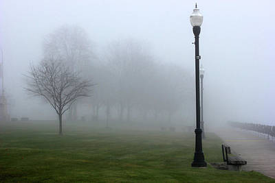 Photograph - Palmer Park In Fog by Mary Bedy