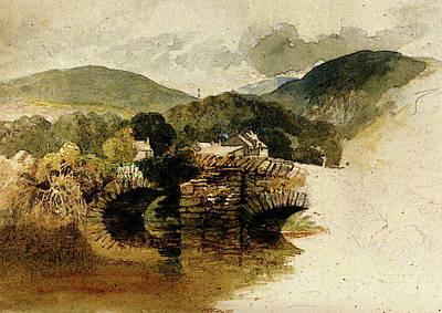 Palmer Samuel Beddgelert Bridge North Wales Art Print by Samuel Palmer
